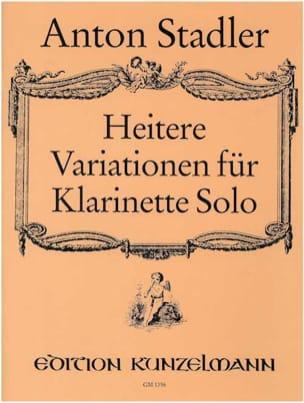 Heitere Variationen Anton Stadler Partition Clarinette - laflutedepan
