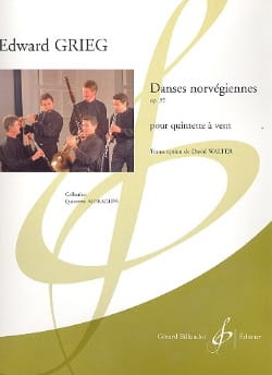 Edvard Grieg - Norwegian dances op. 35 - Wind Quintet - Sheet Music - di-arezzo.co.uk