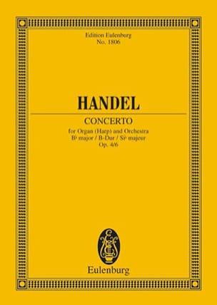 HAENDEL - Orgel-Konzert B-Dur, Op. 4/6 - Conducteur - Partition - di-arezzo.fr