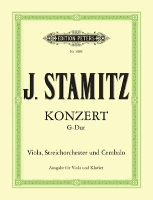 Concerto G-dur - Viola Klavier Johann Stamitz Partition laflutedepan