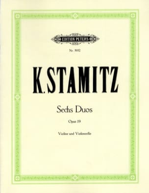 Carl Stamitz - 6 Duos op. 19 - Partition - di-arezzo.fr