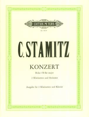 Konzert B-Dur -2 Klarinetten Klavier STAMITZ Partition laflutedepan