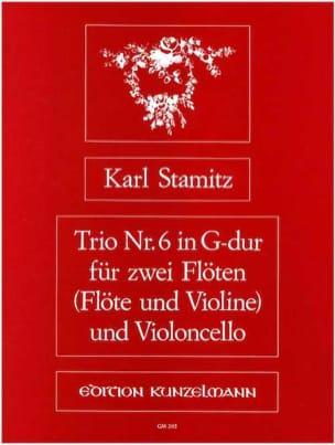 Trio Nr. 6 G-Dur-2 Flöten Violoncello STAMITZ Partition laflutedepan