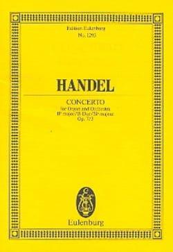 Orgel-Konzert B-Dur, op. 7/3 B-Dur - HAENDEL - laflutedepan.com