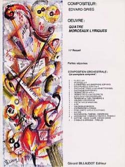 Quatre morceaux lyriques - Partition d'orchestre GRIEG laflutedepan