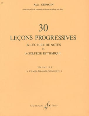 Alain Grimoin - 30 Progressive Lessons - Volume 3A - Sheet Music - di-arezzo.co.uk