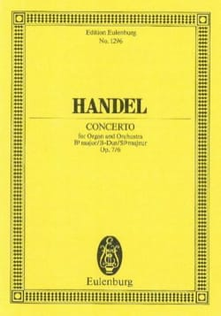 Orgel-Konzert B-Dur, op. 7/6 - HAENDEL - Partition - laflutedepan.com