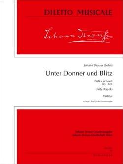Johann (Fils) Strauss - Unter Donner und Blitz op. 324 - Partitur - Partition - di-arezzo.fr