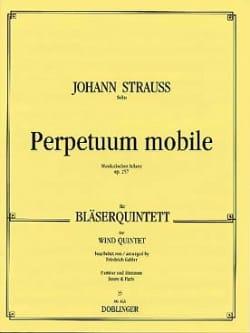 Johann (Fils) Strauss - Perpetuum mobile op. 257 –Bläserquintett - Partitur + Stimmen - Partition - di-arezzo.fr
