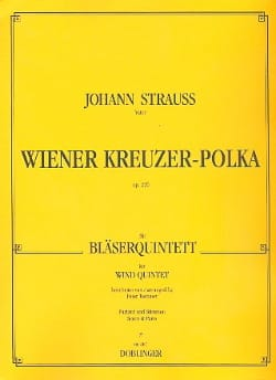Wiener Kreuzer-Polka op. 220 -Bläserquintett - Partitura + Stimmen laflutedepan