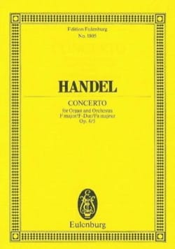 Georg Friedrich Haendel - Orgel-Konzert F-Dur, Op. 4/5 - Conducteur - Partition - di-arezzo.fr
