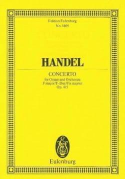 Orgel-Konzert F-Dur, Op. 4/5 - Conducteur - HAENDEL - laflutedepan.com