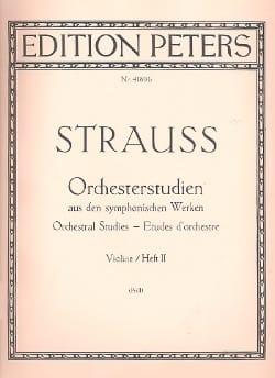Orchesterstudien Violine – Bd. 2 - Richard Strauss - laflutedepan.com