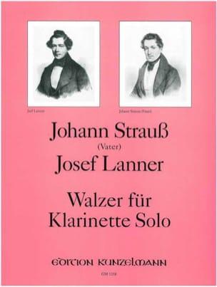 Strauss Johann (Père) / Lanner Josef - Walzer –Klarinette solo - Partition - di-arezzo.fr