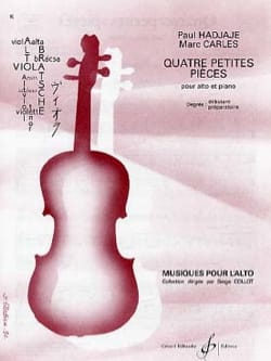 Hadjaje Paul / Carles Marc - 4 Petites pièces - Partition - di-arezzo.fr