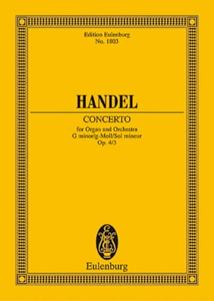 HAENDEL - Orgel-Konzert G-Moll, Op. 4/3 - Conductor - Sheet Music - di-arezzo.co.uk
