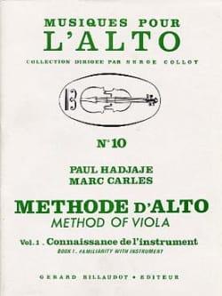Méthode D'alto Volume 1 Hadjaje Paul / Carles Marc laflutedepan