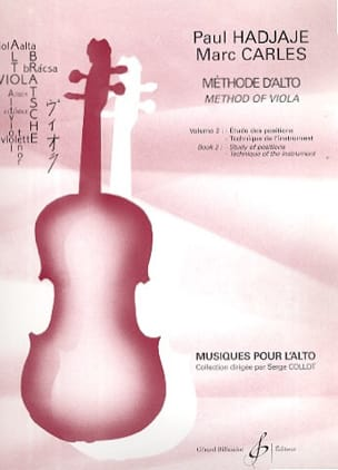 Methode D'alto Volume 2 Hadjaje Paul / Carles Marc laflutedepan
