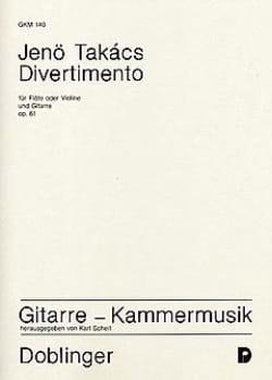 Divertimento - Jenö Takács - Partition - Duos - laflutedepan.com