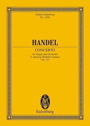 Georg F Haendel - Orgel-Konzert g-moll, op. 7/5 g-moll - Partition - di-arezzo.fr