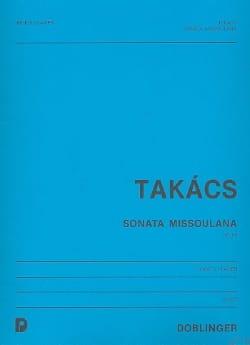 Jenö Takács - Sonata Missoulana op. 66 -Oboe Klavier - Partition - di-arezzo.fr