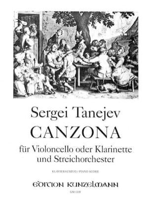 Canzona - Serge Taneiev - Partition - Violoncelle - laflutedepan.com