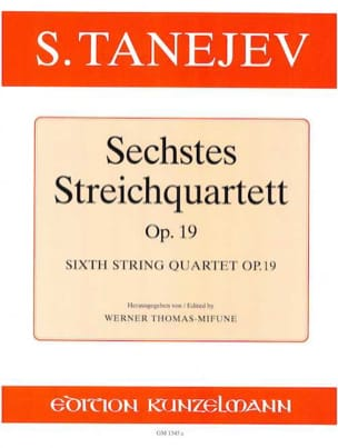 Streichquartett Nr. 6 op. 19 -Stimmen Serge Taneiev laflutedepan