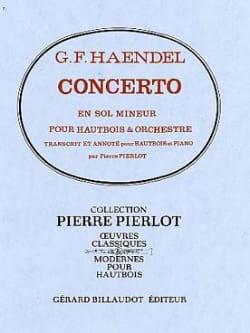 Concerto Hautbois en sol mineur HAENDEL Partition laflutedepan
