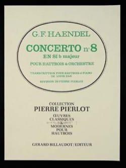 Concerto Hautbois n° 8 en Sib Majeur HAENDEL Partition laflutedepan