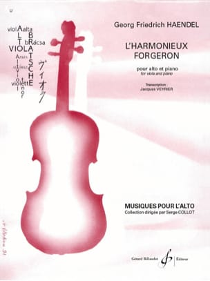 HAENDEL - The harmonious blacksmith - Viola and piano - Sheet Music - di-arezzo.com