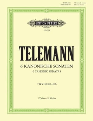 TELEMANN - 6 kanonische Sonaten - Sheet Music - di-arezzo.co.uk