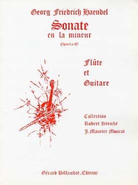 Sonate en la mineur op. 1 n° 4 - Flûte guitare HAENDEL laflutedepan