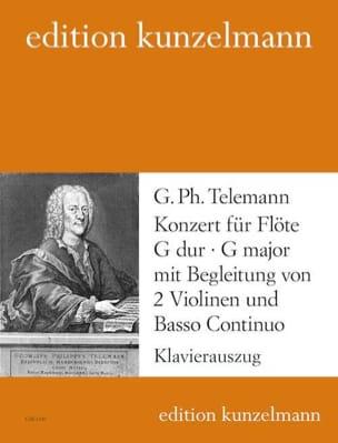 Konzert G-Dur TELEMANN Partition Flûte traversière - laflutedepan