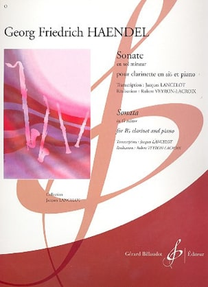 HAENDEL - Sonata in Sol Minor - Clarinet - Sheet Music - di-arezzo.co.uk