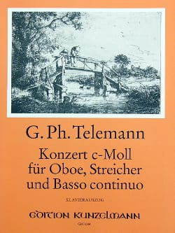 Concerto c-moll -Oboe Klavier TELEMANN Partition laflutedepan