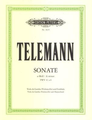 Sonate a-Moll, TWV 41 : a 6 TELEMANN Partition laflutedepan