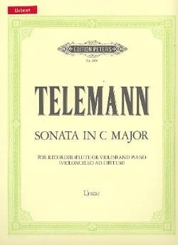 Sonata C maj. - recorder piano - TELEMANN - laflutedepan.com