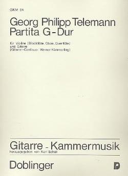 Georg Philipp Telemann - Partita G-Dur – Violine Gitarre - Partition - di-arezzo.fr