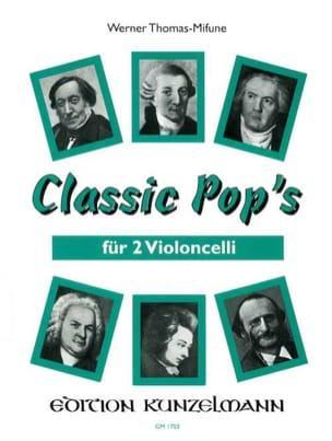 Classic Pop's - 2 Cellos Werner Thomas-Mifune Partition laflutedepan