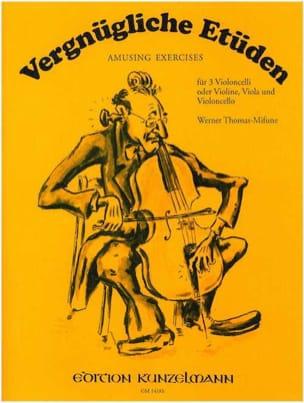 Vergnügliche Etüden - 3 Cellos o. Violine Viola Cello - laflutedepan.com