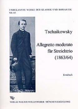 TCHAIKOVSKY - Allegretto Moderato Für Streichtrio - stimmen - Sheet Music - di-arezzo.co.uk