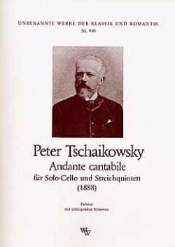 TCHAIKOVSKY - Andante Cantabile - Partitur Stimmen - Sheet Music - di-arezzo.com