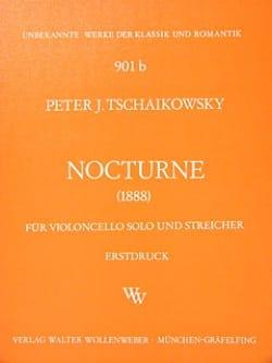 Nocturne -Partitur + Stimmen TCHAIKOVSKY Partition laflutedepan