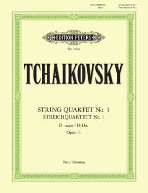 TCHAIKOVSKY - String Quartet in D major Op. 11 - Instrumental parts - Sheet Music - di-arezzo.co.uk