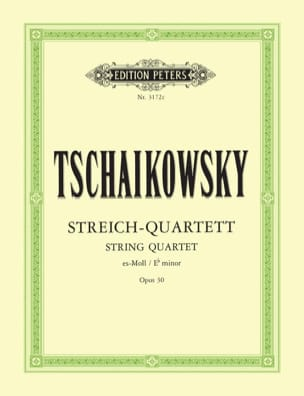 TCHAIKOVSKY - Major String Quartet Op. 30 - Parts - Sheet Music - di-arezzo.com