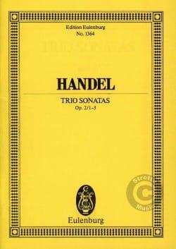 Georg Friedrich Haendel - Triosonaten, Op. 2 / 1-3 - Partition - di-arezzo.fr