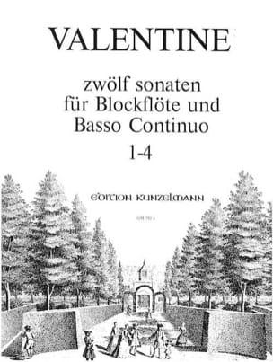Robert Valentine - 12 Sonaten Bd. 1 Nr.1-4 - Blockflöte u. Bc - Partition - di-arezzo.com