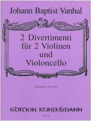 Johann Baptist Vanhal - 2 Divertimenti – 2 Violinen Violoncello –Partitur + Stimmen - Partition - di-arezzo.fr