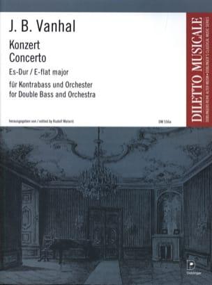 Konzert Es-Dur - Kontrabass Johann Baptist Vanhal laflutedepan