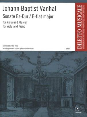 Sonate Es-Dur Johann Baptist Vanhal Partition Alto - laflutedepan